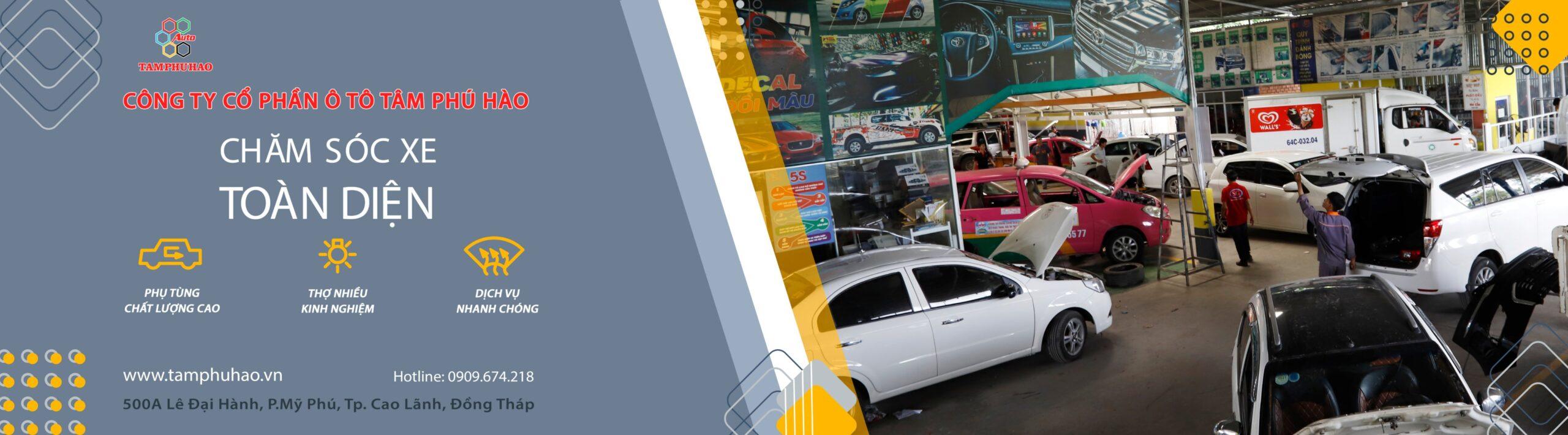 Chăm sóc sửa chữa ô tô tại Đồng Tháp uy tín
