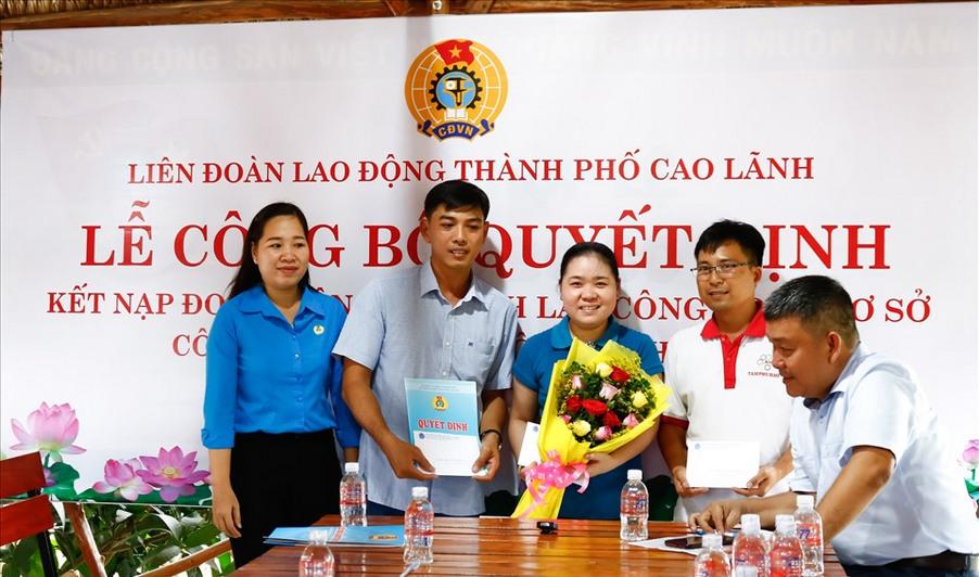 thành lập công đoàn cơ sở Tâm Phú Hào