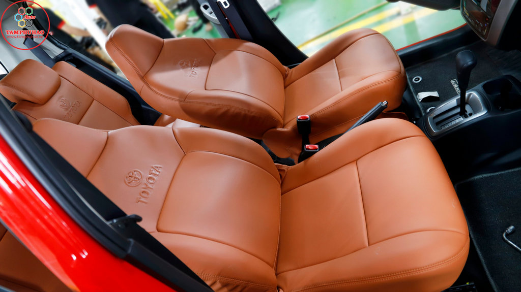 Bọc ghế da cho xe Toyota Wigo ở Đồng Tháp, An Giang